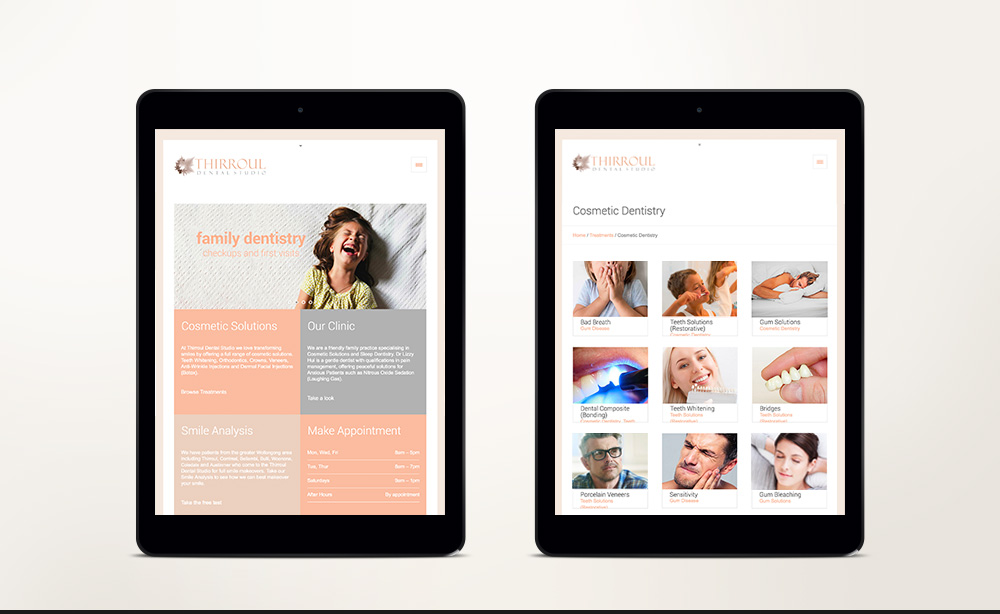 © ChrisRaeDesign.com Sydney Brand Identity Graphic Web Print Design Thirroul Dental Studio Dentist 02.jpg