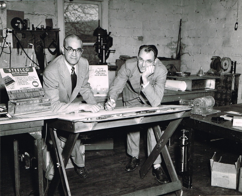 Homer and Harry Steele, Developer and Inventors of STEELCO Gutter Screen.