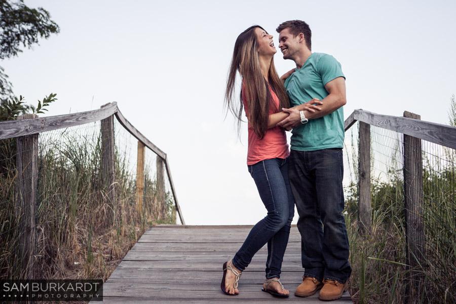 Nicole Eric Jennings Beach Engagement Fairfield Ct Sam