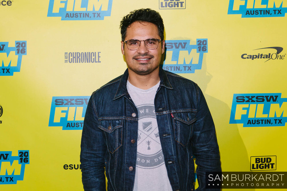 Michael Peña red carpet premiere for 'War on Everyone' at SXSW 2016