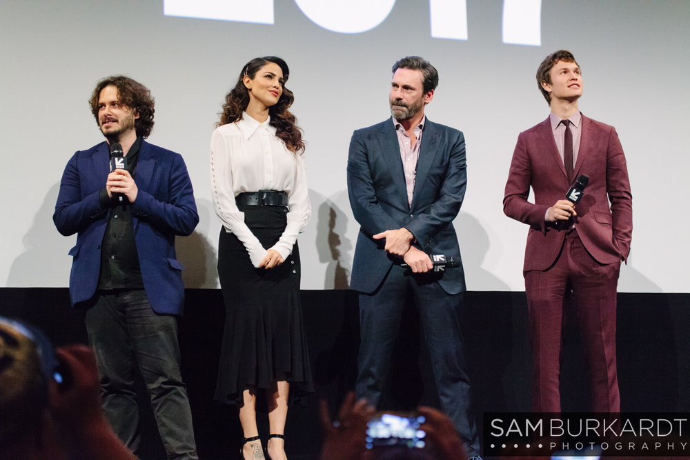 Edgar Wright, Eiza Gonzalez, Jon Hamm and Ansel Elgort - Baby Driver premiere