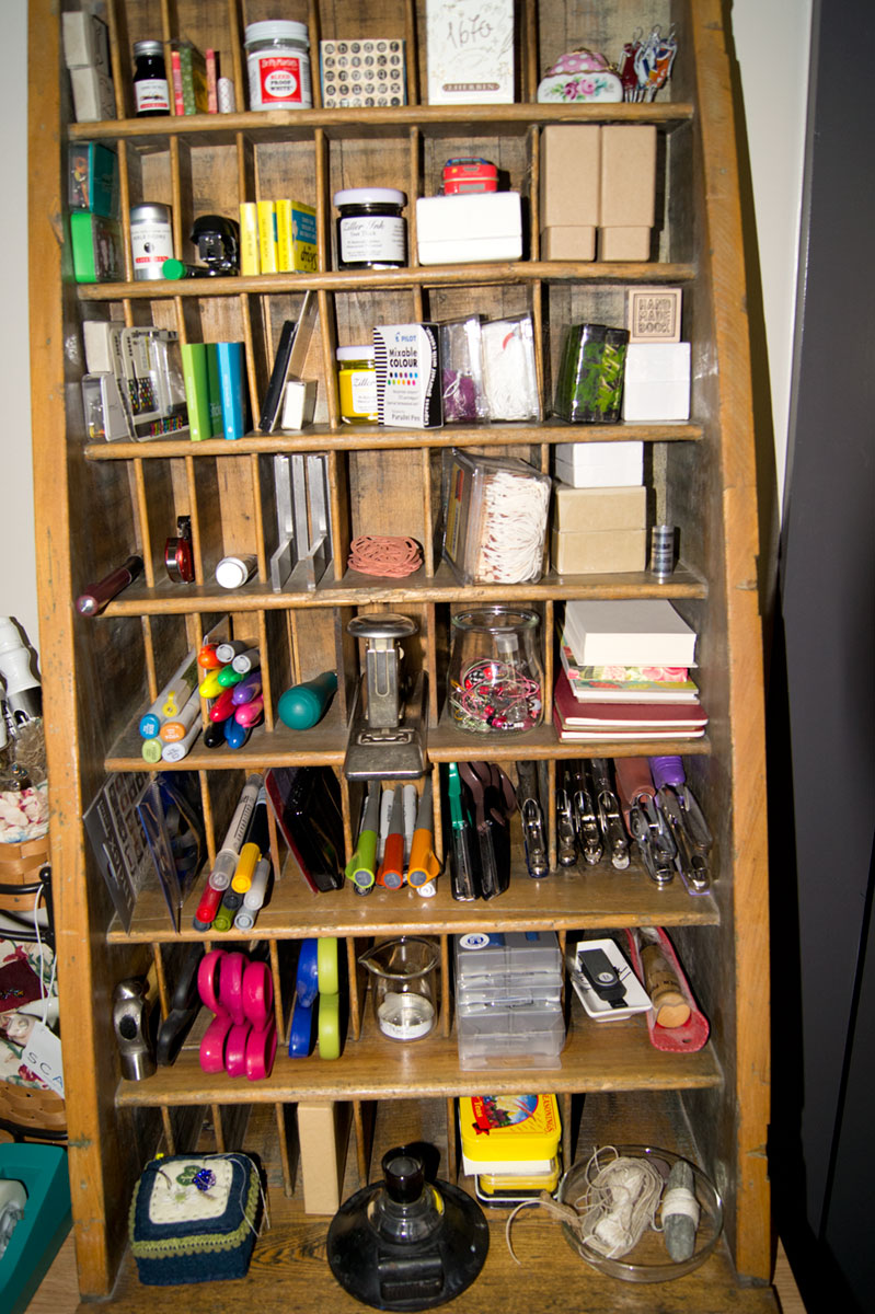 © 2017 Louise Levergneux, Dana's cabinet of tools certainly not a mess!