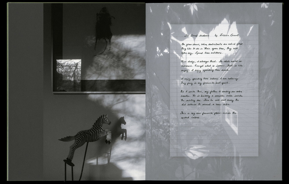 © 2014  M. MacCallum, Wall Stories, view of second-page spread, 25.6 x 39.3 cm