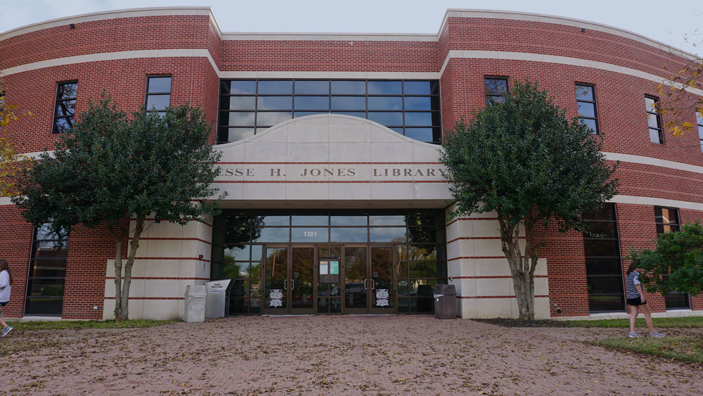 © 2017 Louise Levergneux, the Jesse H Jones Library, one of the central libraries at Baylor University in Waco, Texas