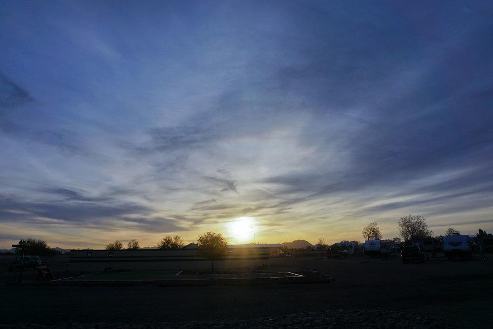 © 2018 Louise Levergneux, sunrise in Gila Bend, Arizona