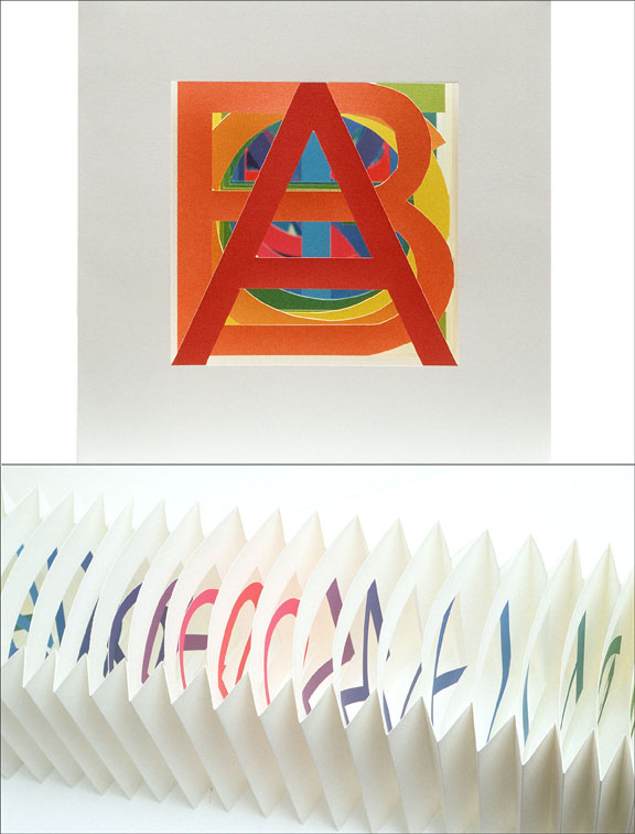 "© 2003 Karen Hanmer, The Spectrum A to Z, pigment inkjet prints, 5 x 5 x 18"", edition of 20"