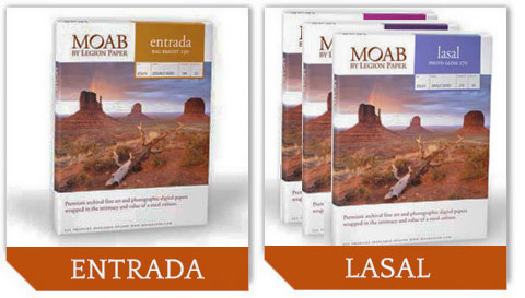 Moab Entrada and Lasal Photo papers