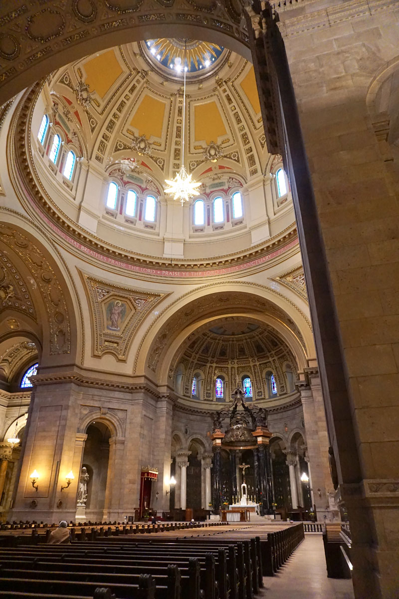 © 2018 Louise Levergneux. Visiting this beautiful structure of the St Paul Cathedral in St Paul, Minnesota
