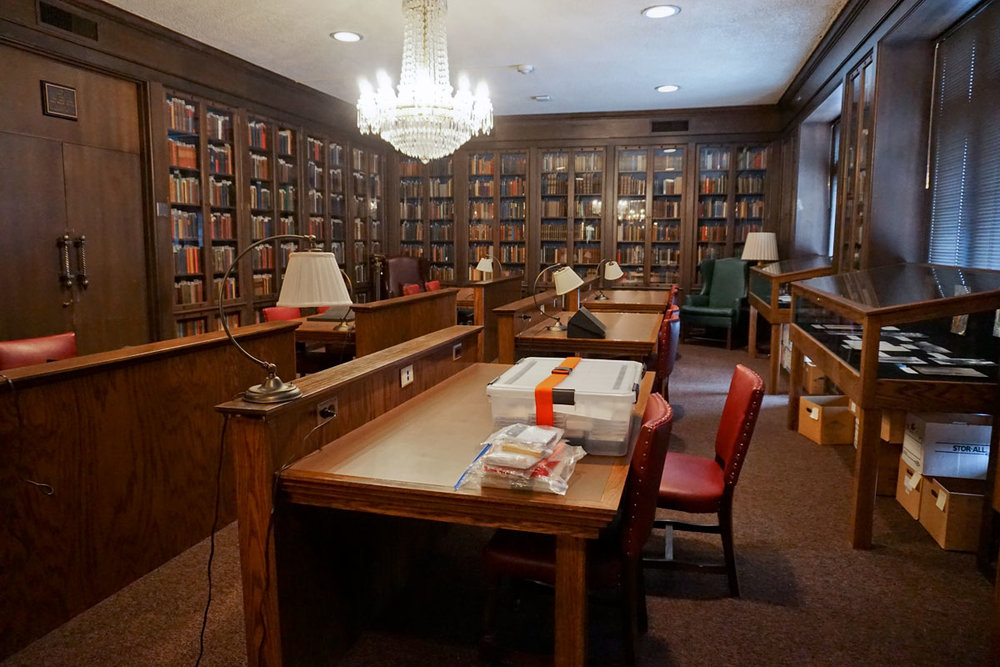 © 2018 Louise Levergneux. The Jack H. and Tybie Davis Satin Rare Book Room of the McFarlin Library were I presented my books (on the table in the foreground)