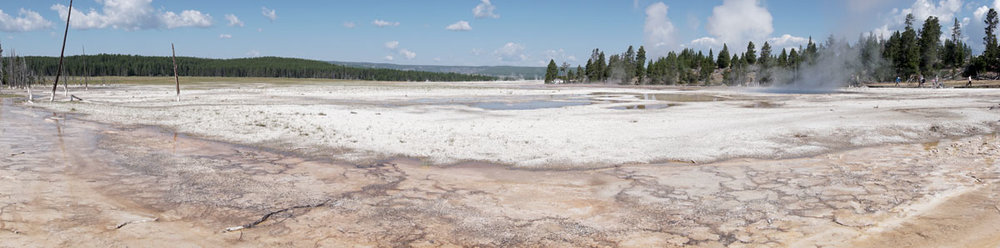 © 2018 Louise Levergneux. Lower Geyser Basin, Yellowstone National Park / Bassin inférieur de geysers,  Parc national Yellowstone