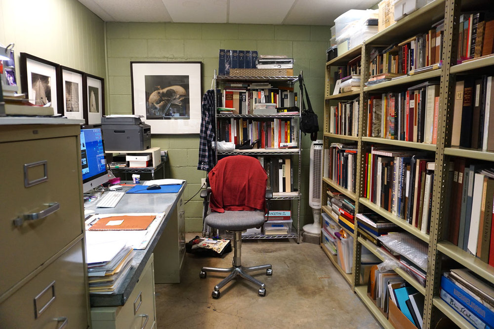 © 2018 Louise Levergneux. Jace Graf's office at Cloverleaf Studio.