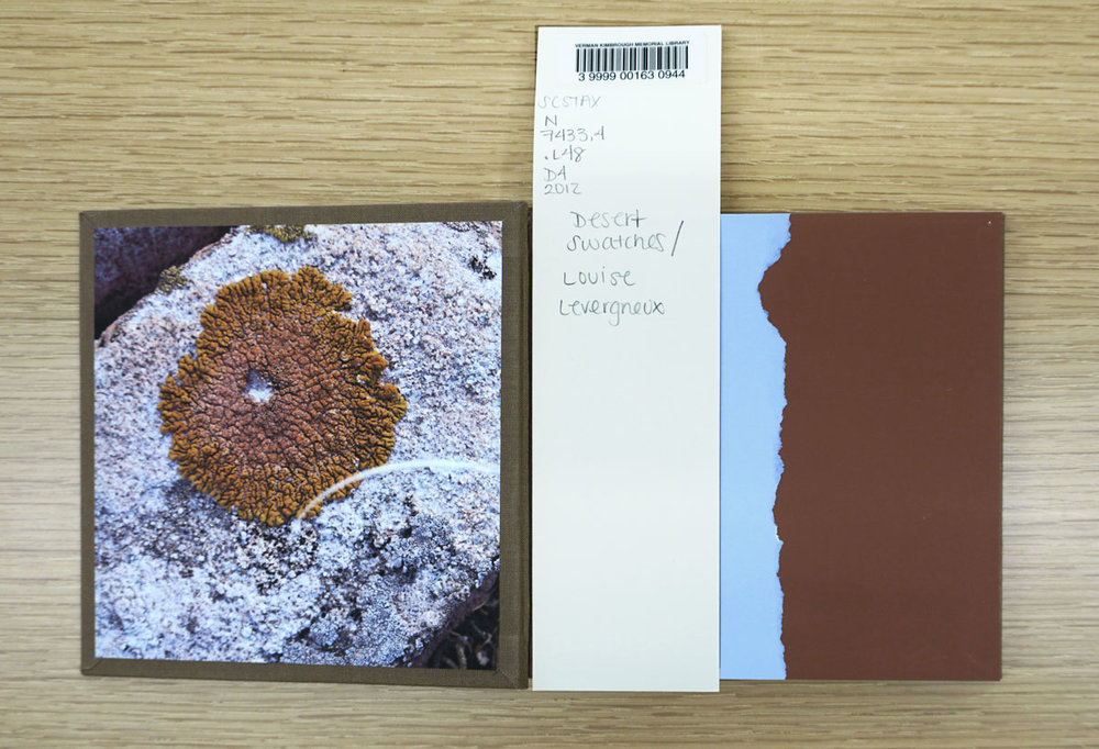 © 2019 Louise Levergneux. Desert Swatches with its catalogue information.