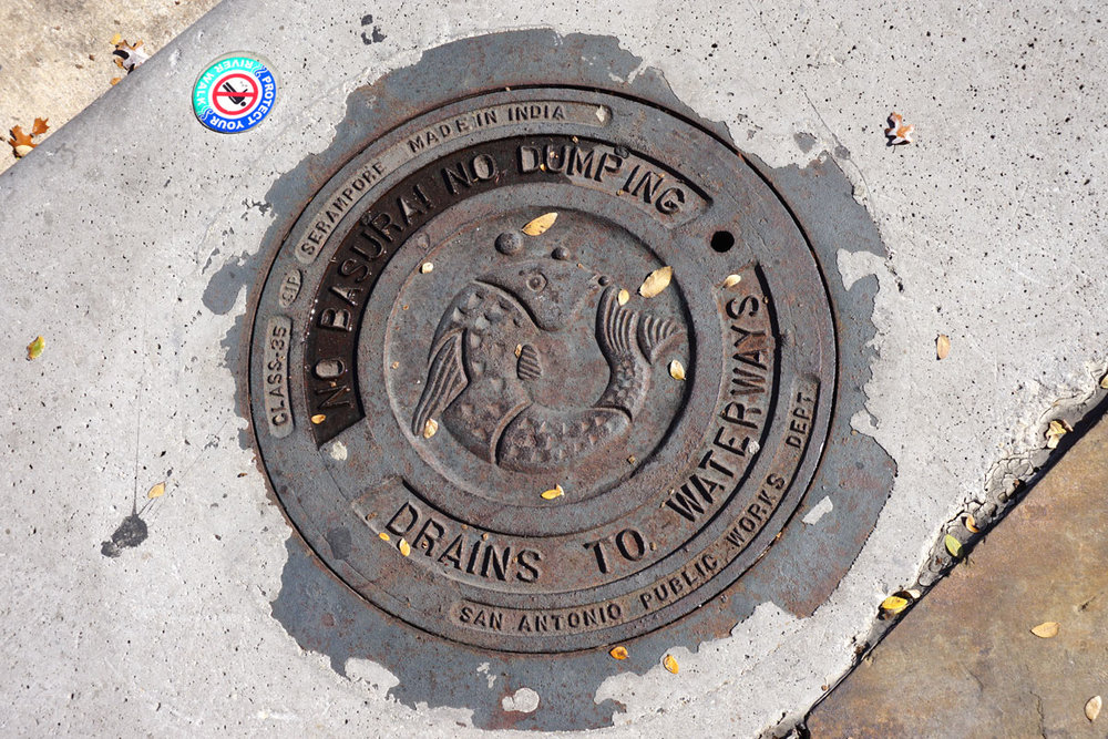 © 2017 Louise Levergneux. Manhole cover in Austin, Texas.