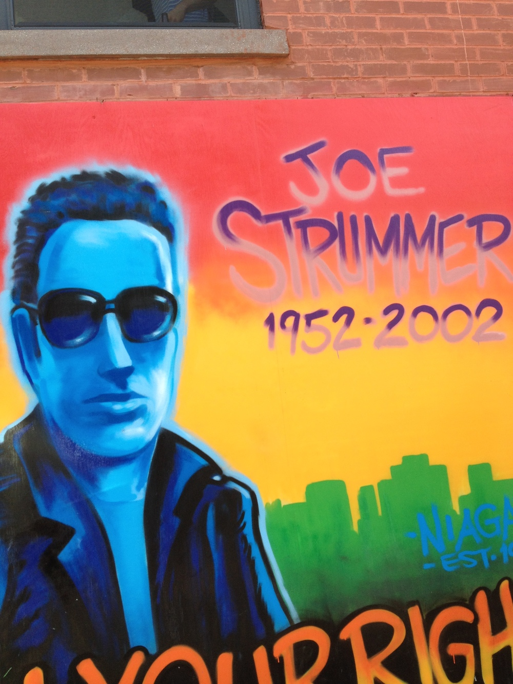 Joe Strummer   mural. This is its third incarnation in this location