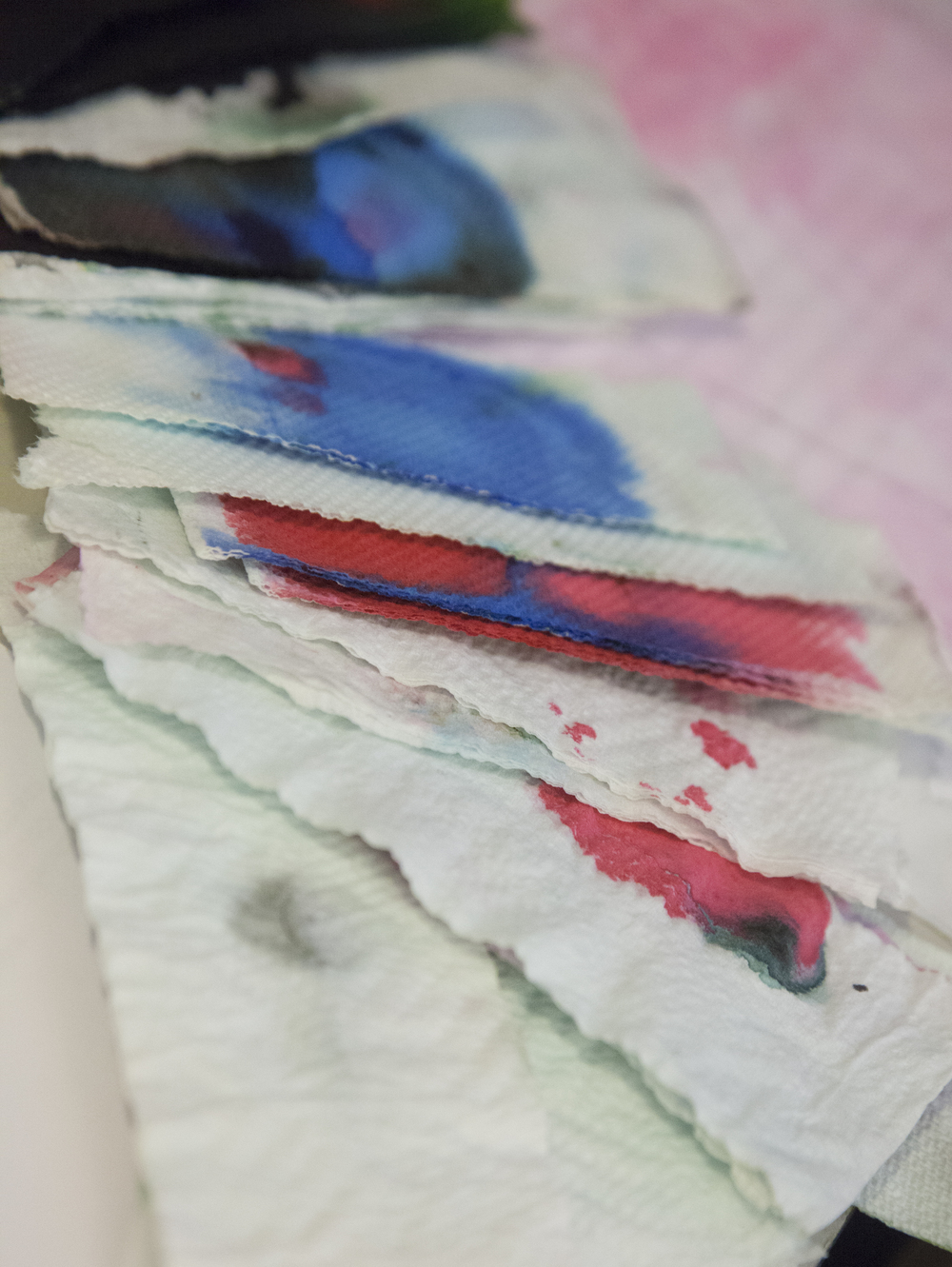 This is some of the paper towels I used for cleaning. It's kind of cool to see when some of the colors loosen up. Kind of. It would be fun if ink wasn't so darn expensive.