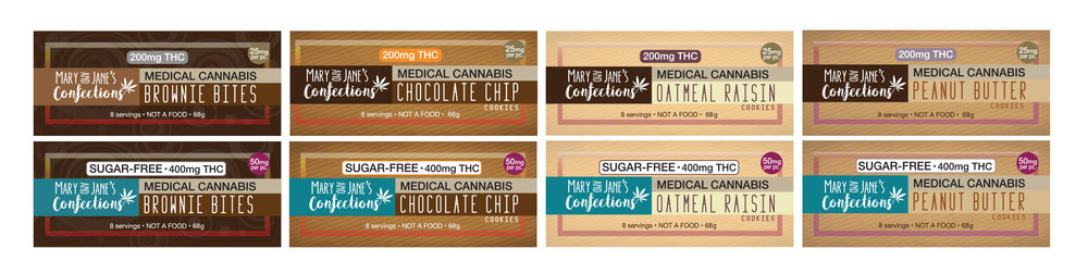 Label designs for these 8 varieties were also created for numerous dosage and serving sizes.