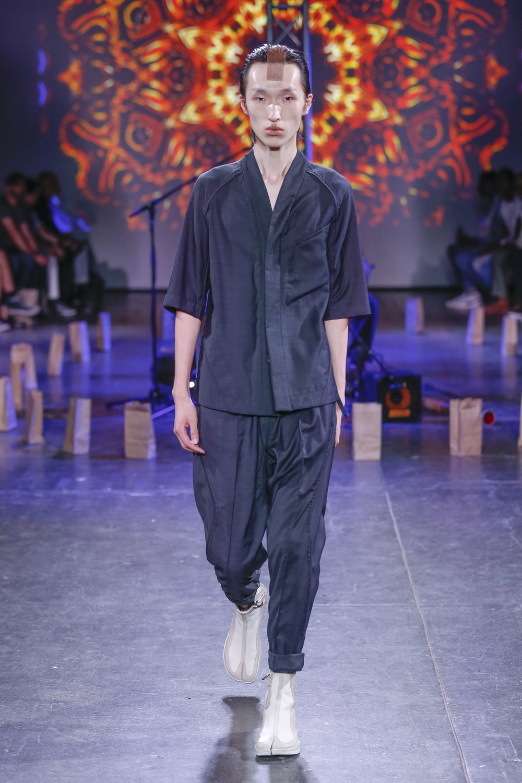 LOOK 8   ARC Desert Shirt  / Black Tropical Wool   ARC Ankara Pant  / Black Tropical Wool   ARC Apollo Tabi Boot   .