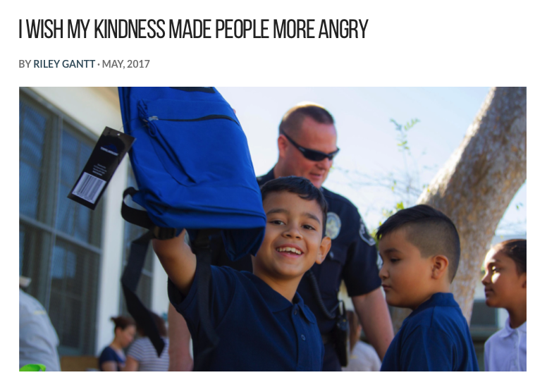 Please click on the image above to to read the article from Channel Kindness