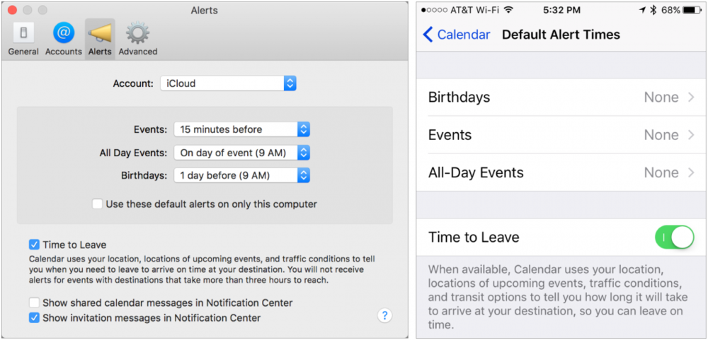 build travel time into your calendar alerts scout full service