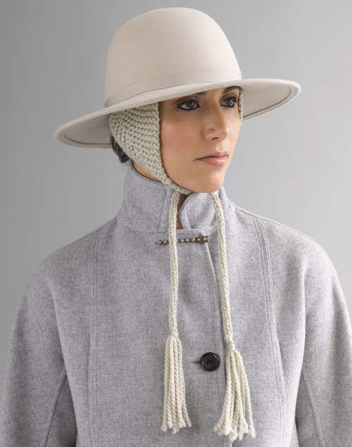 a5e108b7d65f10 HARRIET WIDE BRIM HAT WITH EAR FLAPS — KAREMA DEODATO MILLINERY