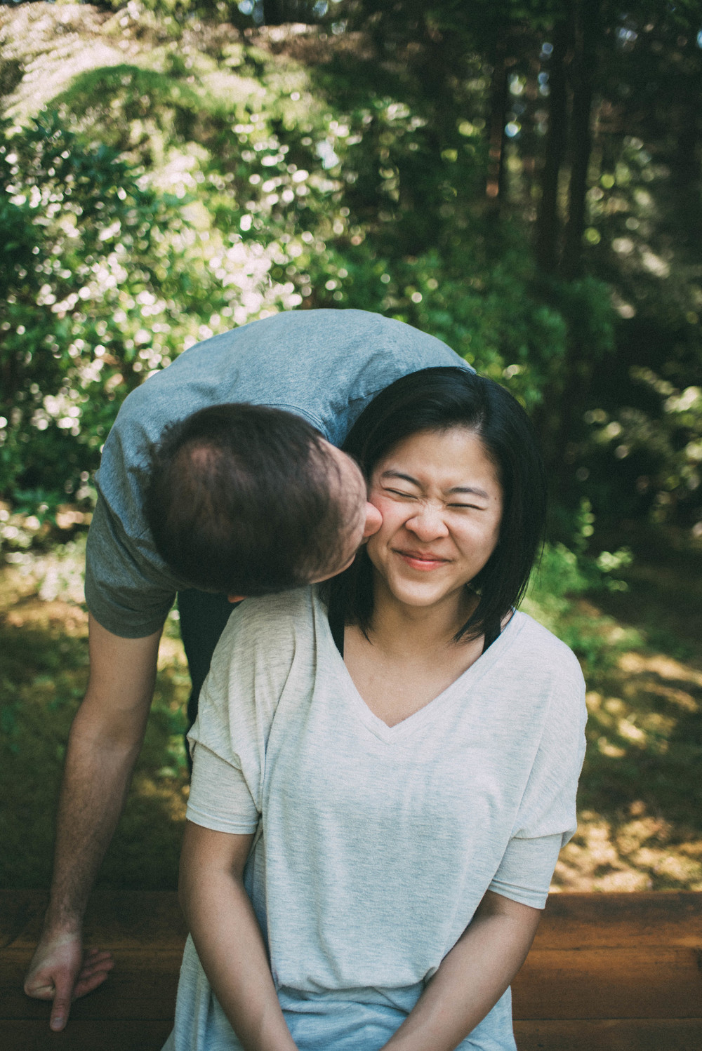 UBC Endowment Land Spirit Spirit Park Nitobe Garden Forest Wood Engagement Couple Connection Portrait Photography Session by Jo+Bo Vancouver Thailand Destination wedding lifestyle family photographer