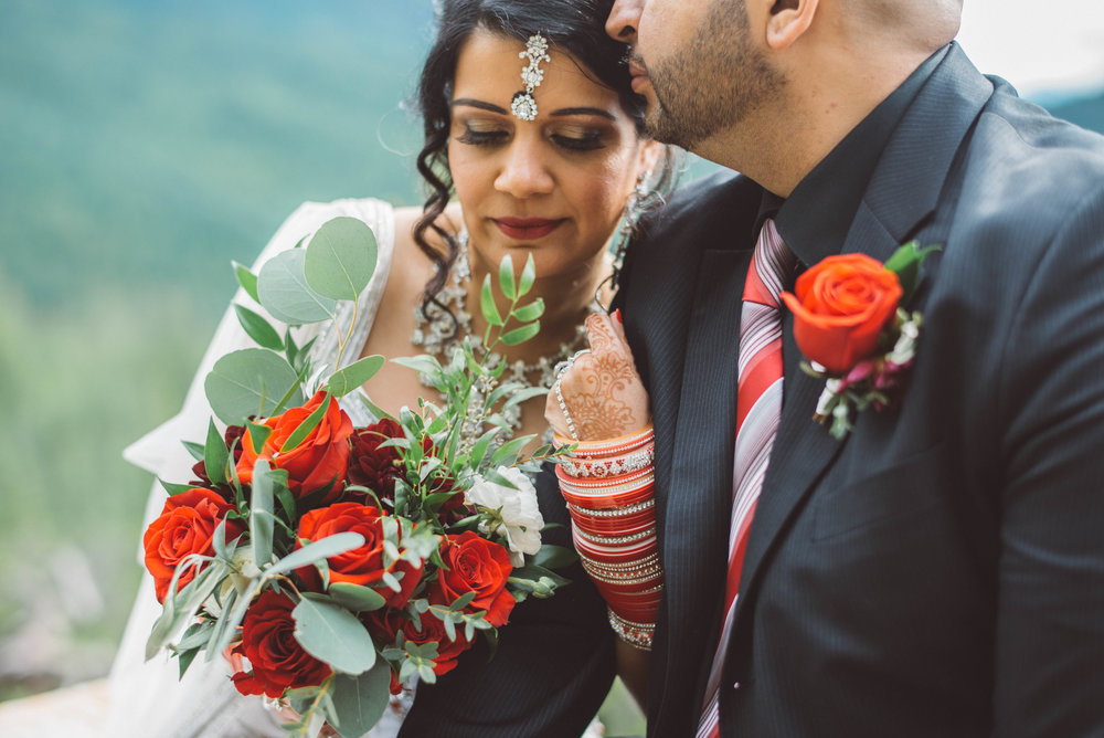 manny and raj sea to sky gondola elopement squamish pacific north west west coast fine art wedding vancouver photographer jo and bo photography indian wedding