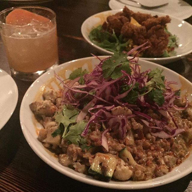 Curry, quail, and burgers @alchemy_sa so good! #kombucha #cocktails #sanantonio