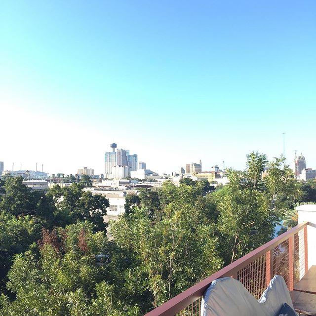 Not a bad way to start a morning @paramourbar @centrosanantonio #downtownsanantonio #coffee