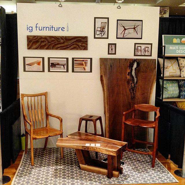 We are ready to go @designbuildcincy 2017 . . . . . . . . . . . #walnut #wood #coffeetable #metal #interiordesign #furniture #woodworking #woodwork #furnituredesign