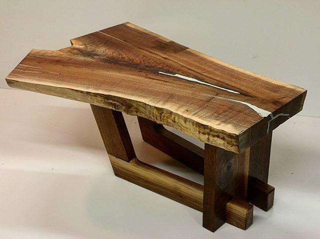 Picture day for this coffee table . . . . . . . . . . . #walnut #wood #woodworking #woodwork #metal #interiordesign #furniture #slab #coffeetable #Cincinnati #coffee