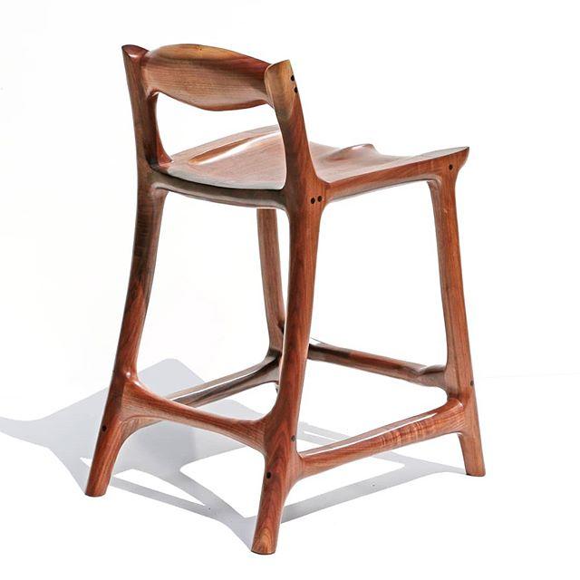 Walnut barstool with some great lines! . . . . . . . . #cincinnati #ohio #OTR #furniture #barstool #handmade #cincy #interiordesign #kitchen #kitchendesign