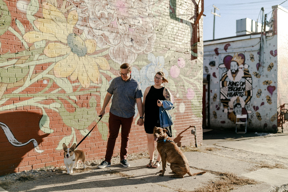 BILLY & STEPHANIE - Please, I beg you - bring your dogs to your engagement session! Any couple that treats their dogs like the fur kids that they are, are pretty great in my book. I loved taking these photos around Eastern Market back when the sun was shining and the air was warm!