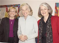 Eunice Kennedy Shriver visits Vanderbilt Kennedy Center (pictured with  Elizabeth Dykens, Director and Elise McMillan, Director of Community  Outreach)