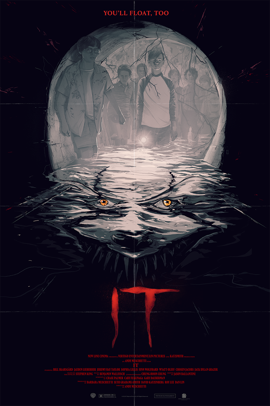 IT - Regal Cinemas / Warner Bros.promotional artwork for the film's theatrical release, featured on collectible tickets and posters.