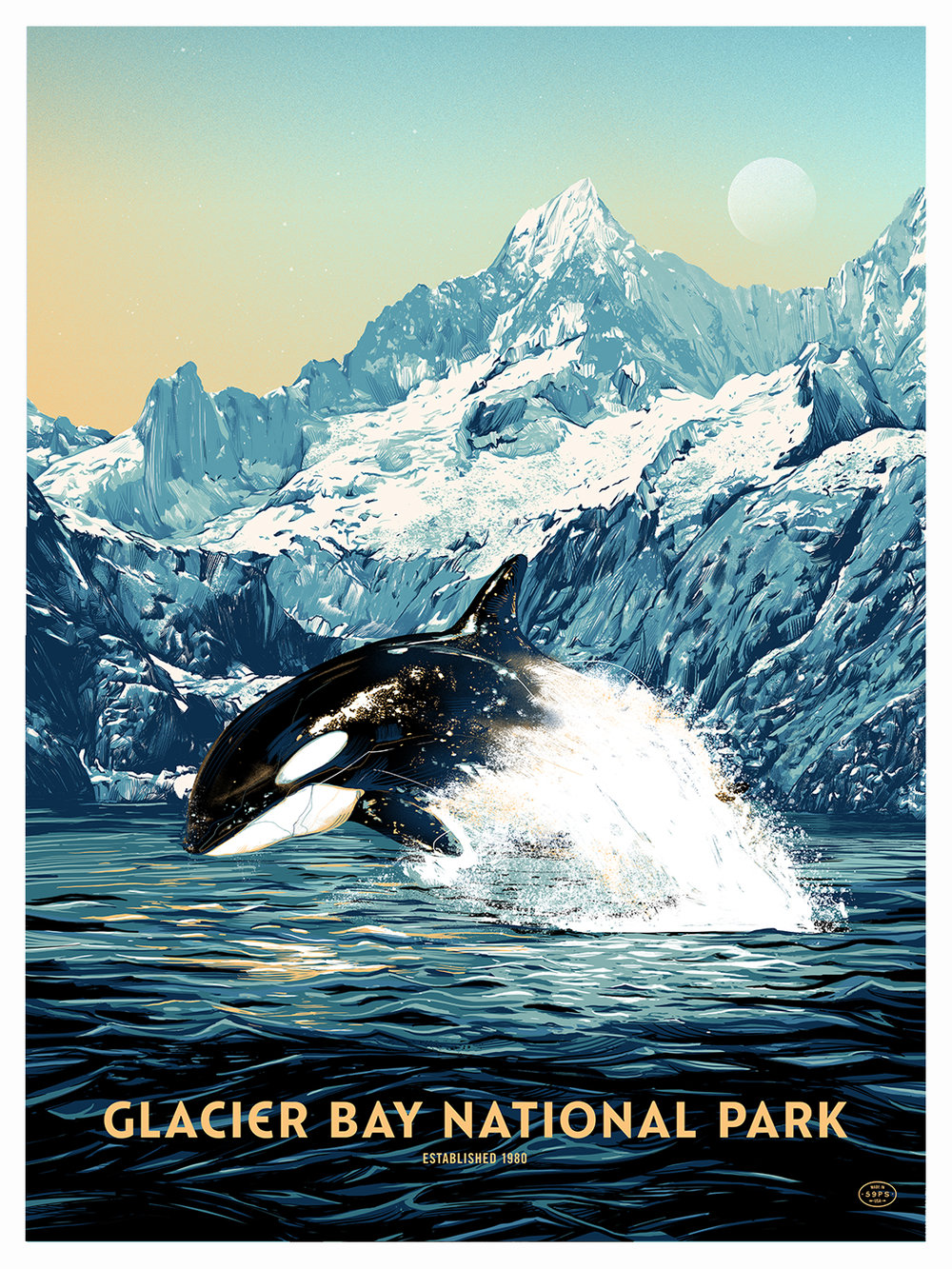GLACIER BAY - Fifty-Nine ParksLimited edition, screen-printed poster.Available in the shop