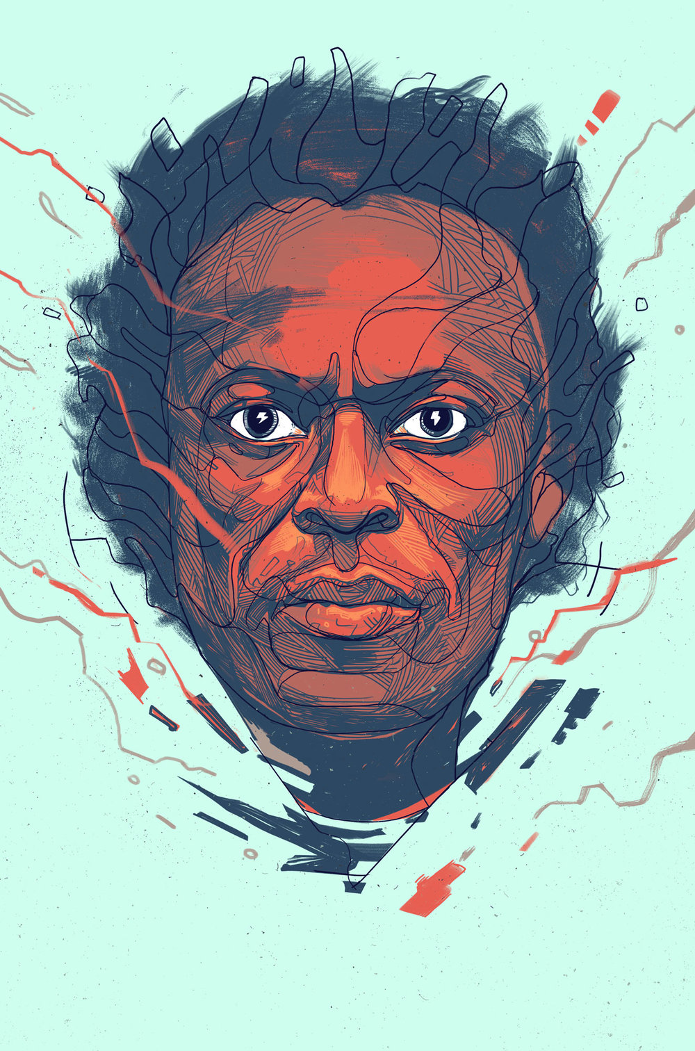 THE ELECTRIC SURGE OF MILES DAVIS  - The AtlanticEditorial IllustrationAppears in the July/August 2016 issue.