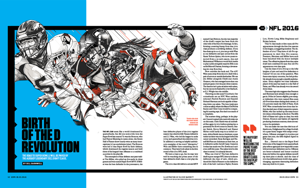 'Birth of the D Revolution,' A feature on the esteemed talent of the 2011 NFL Draft Class. September, 2016