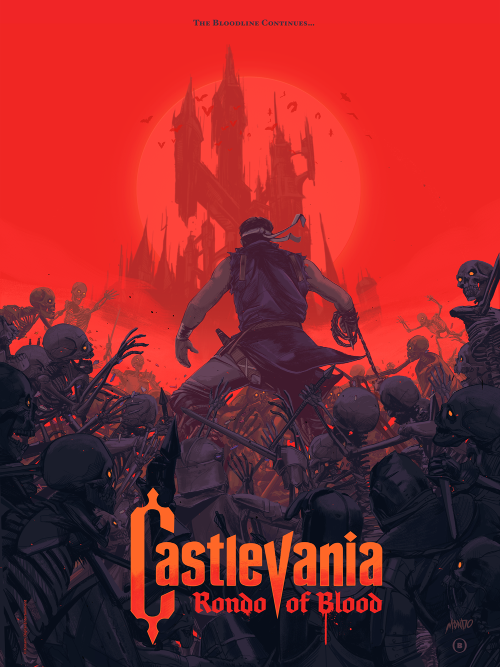 Castlevania: Rondo of Blood - Konami / Mondoscreen-printed poster celebrating the re-release of Castlevania: Rondo of Blood
