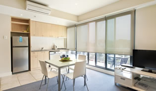1 Bedroom Executive Apartments Apartment style suitable for up-to 2 adults.