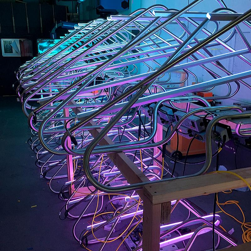 Lighting test at our design studio in San Francisco
