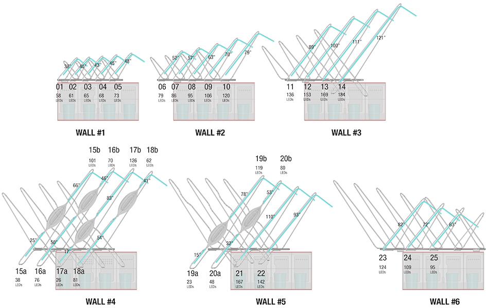 Schematic Designs for Murmur Wall Palo Alto