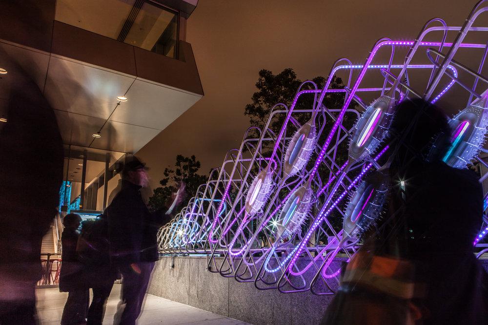 Murmur Wall in San Francisco at Yerba Buena Center for the Arts