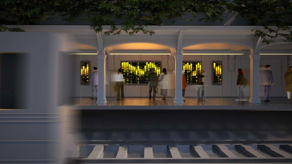 Rendering of Train Platform. Octane Render
