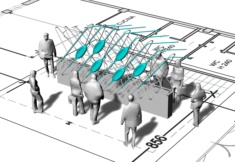 Pre-visualization Site Sketch for the Milan Design Fair