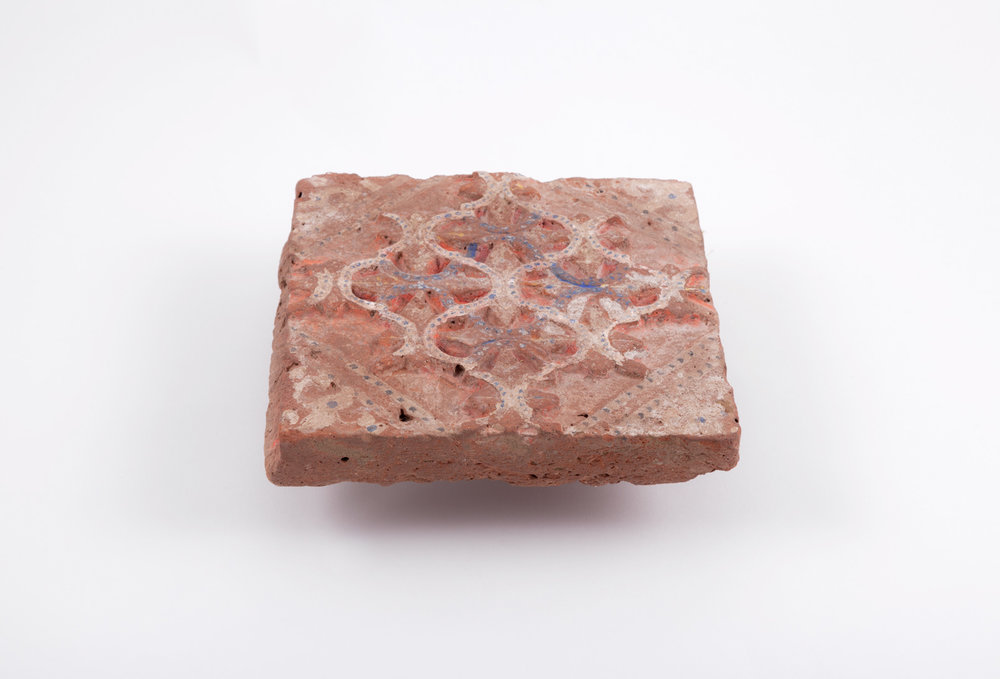 Ancient Roman Tile. photographed and color corrected for archive database and website.