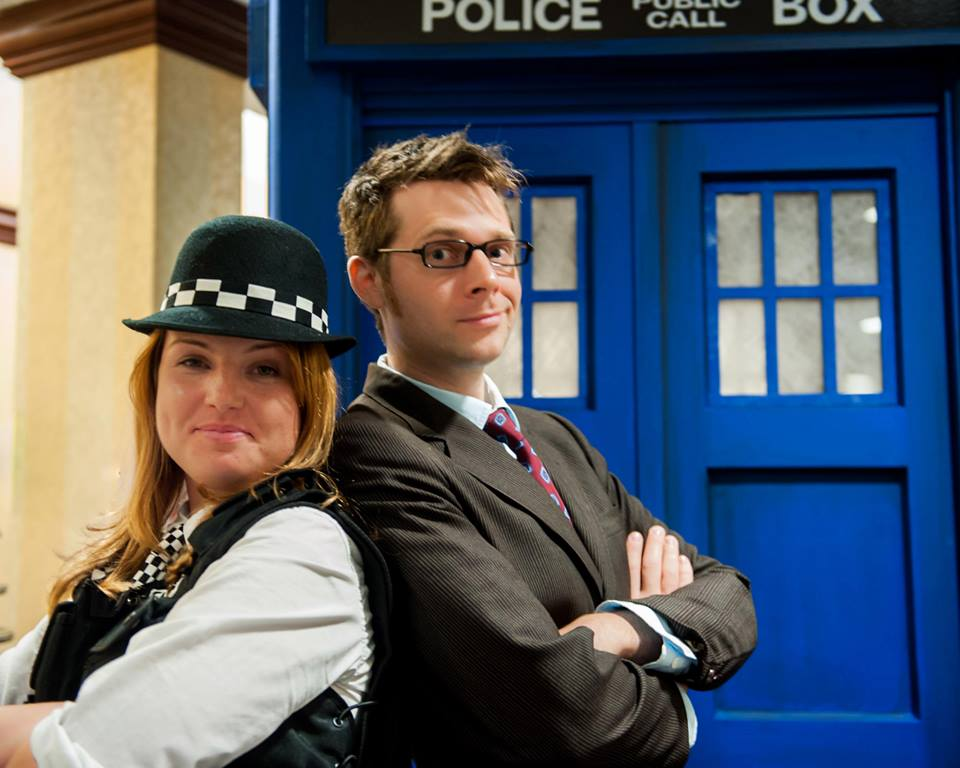The Doctor With Amy Pond and Tardis