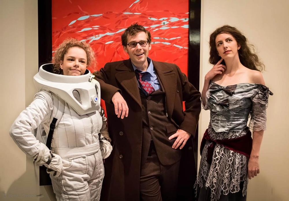 The Doctor, a Tardis and River Song