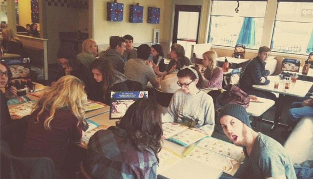 Taking over IHOP  (taken via   Rob's instagram  )