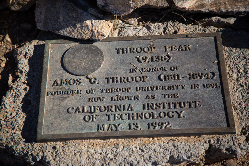 I actually didn't know Amos G. Throop was the founder of what is now known as Cal Tech.