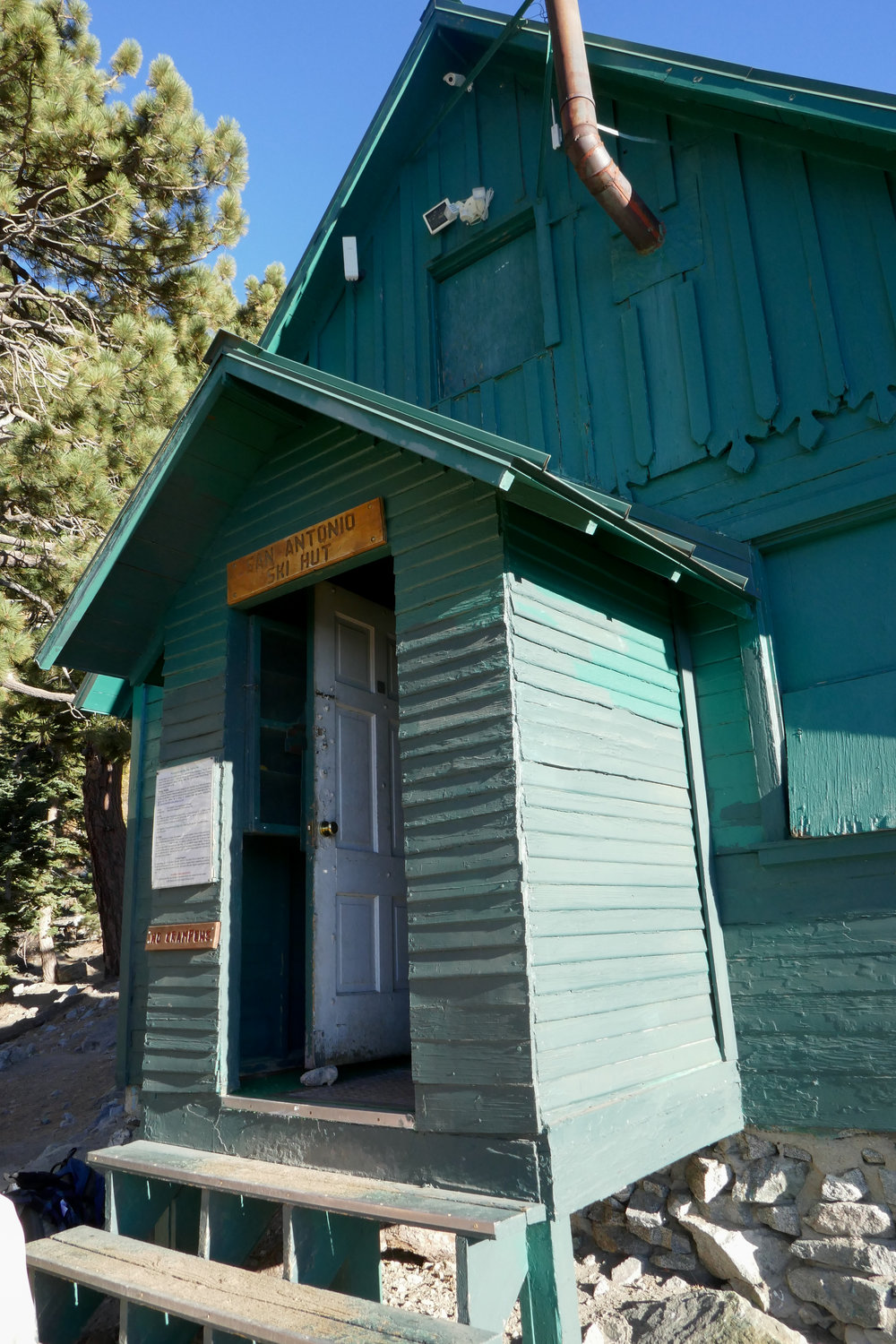 The San Antonio Ski Hut is a nice place to take a break before continuing on your journey.